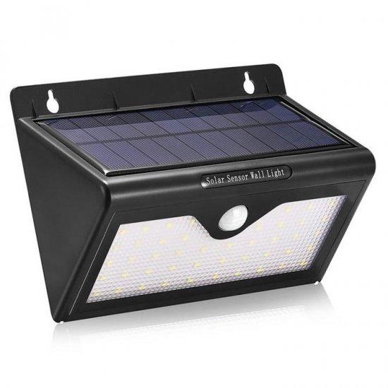 solar lights outdoor motion sensor ip64 waterproof 46 leds solar