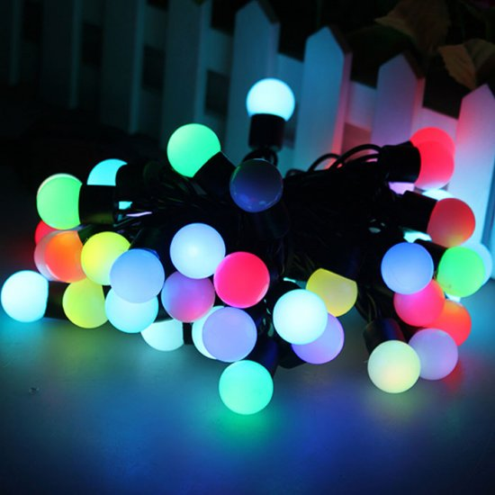 5m 16 feet 50 balls color changing led rgb ball string christmas xmas lights belt light multi colorstr 50x4w 65christmas lights