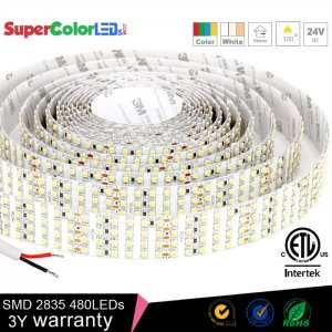 Led strip lights supercolorleds brightest led light strips 24v quad row led tape light with 137 smdsft mozeypictures Images